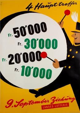 Landes Lotterie – 9. September Ziehung, Fritz Butz