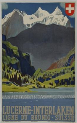 LUCERNE – INTERLAKEN – Ligne du Brunig Suisse, Otto Baumberger