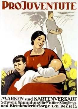 PRO JUVENTUTE – Marken und Kartenverkauf – Schweiz. Sammlung für Mütter-, Säuglings- und Kleinkinderfürsorge, Emil Cardinaux