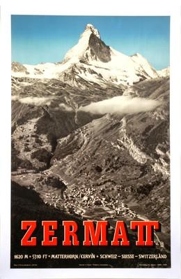 ZERMATT – 1620 M – 5310 FT – Matterhorn / Cervin Schweiz – Suisse – Switzerland, Alfred Perren-Barberini