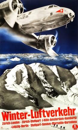 Winter-Luftverkehr – DC-2, Herbert Matter