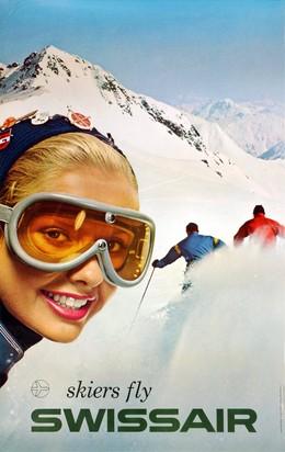 Skiers fly SWISSAIR, René Bittel