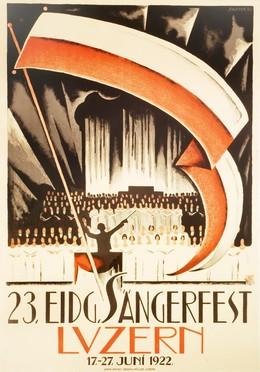 23. Sängerfest Luzern 1922, Fred Stauffer