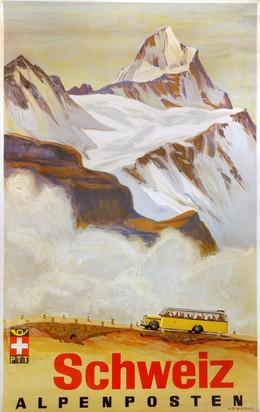 Swiss Post Buses – Swiss Alpine Postal Motor Coaches, Hans Beat Wieland