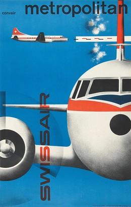 Convair Metropolitan – Das modernste Flugzeug im Europaverkehr – mit Bordradar ausgerüstet – Swissair, Kurt Wirth