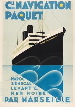 CIE. DE NAVIGATION PAQUET Maroc, Sénégal, Levant & Mer Noire par Marseille, Max Ponty