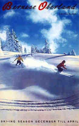 Bernese Oberland – Switzerland – Ski-ing season December till April, 20. Jh. Amstutz & Herdeg