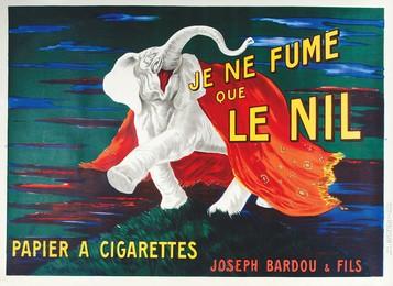 Je ne fume que le NIL – papier à cigarettes (Elefant), Leonetto Cappiello