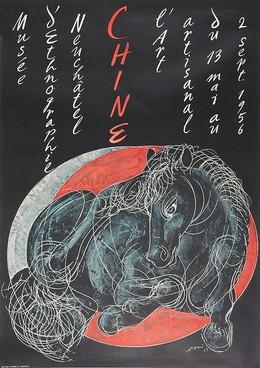 Musée d'éthnologie Neuchâtel – Chine – 13 mai au 2 septembre 1956, Hans Erni