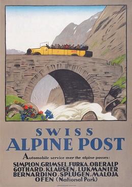 SWISS ALPINE POST – Automobile service over the alpine passes, Emil Cardinaux