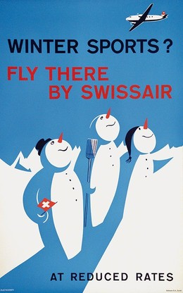 Winter Sports ? Fly there by Swissair – at reduced rates, Pletscher Fredy