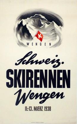 Schweiz. Skirennen Wengen 11.-13. März 1938, Hans Thöni