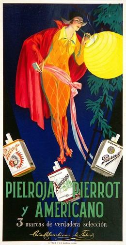 PIELROJA, PIERROT Y AMERICANO – 3 marcas de verdadera selección, Artist unknown