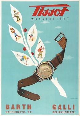 Tissot Swiss Watch, Herbert Leupin