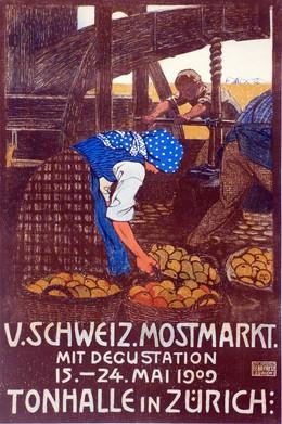 V. Schweiz. Mostmarkt mit Degusationen 1909 Tonhalle in Zürich, Burkhard Mangold