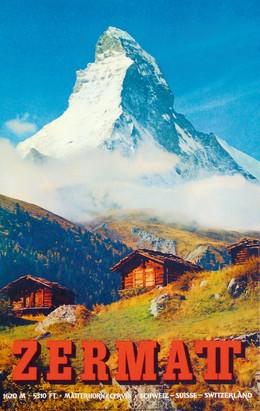 ZERMATT – Schweiz – Suisse – Switzerland – 1620 M – 5310 FT – Matterhorn / Cervin, Alfred Perren-Barberini