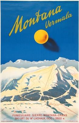 Montana Vermala – Funiculaire Sierre-Montana-Crans – Ski-Lift du Mt. Lachaux, 1500 à 2500 m, Martin Peikert