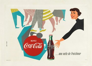 Buvez Coca Cola – une note de fraîcheur, Jean Colin