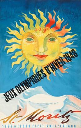 St. Moritz – Jeux Olympiques d'Hiver 1948 – 1856 m (6090 feet) Switzerland, Werner Weiskönig