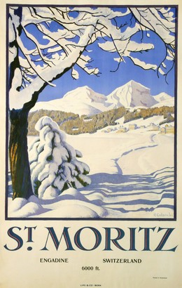 ST. MORITZ – ENGADIN – 6000 ft. SWITZERLAND, Plinio Colombi
