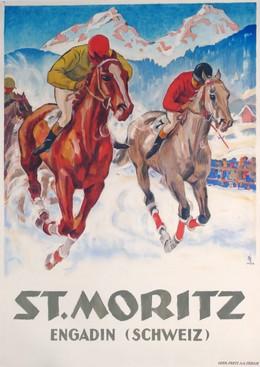 ST. MORITZ – Engadine (Suisse), Hugo Laubi