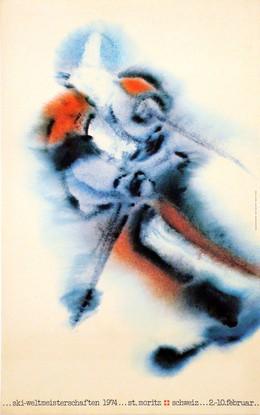 St. Moritz – Skiweltmeisterschaften 1974 St. Moritz Schweiz 2.-10. Februar, Eugen Bachmann