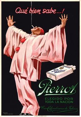 If you kney… Pierrot Cigarettes, René Vincent