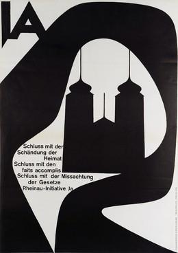 Schluss mit der Schändung der Heimat – Schluss mit den faits accomplis – Schluss mit der Missachtung der Gesetze – Rheinau-Initiative JA, Armin Hofmann