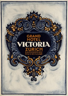 GRAND HOTEL VICTORIA ZURICH BAHNHOFPLATZ PLACE DE LA GARE, Monogram R