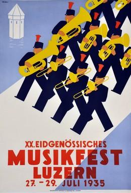 XX. Eidgenössisches Musikfest Luzern 27. – 29. Juli 1935, Walter Läubli