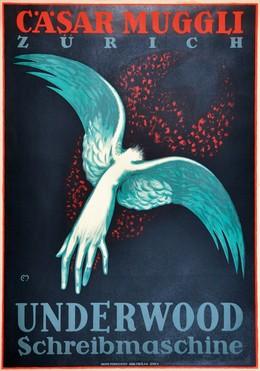 Cäsar Muggli – Underwood Schreibmaschine, Carl Franz Moos