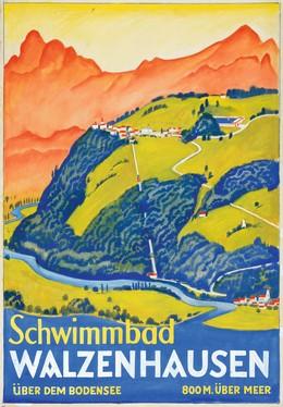 Schwimmbad WALZENHAUSEN über dem Bodensee – 800 M. über Meer, Ernst Emil Schlatter