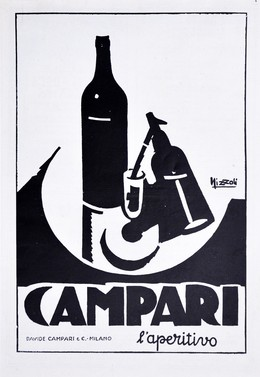 vintage print ad, mounted; size 25 x 35 cm, Magagnoli, Giuseppe (MAGA, 1878-1933)