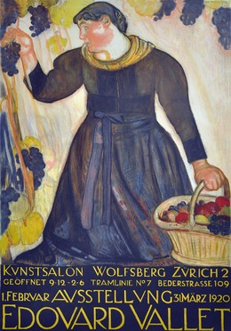 Kunstsalon Wolfsberg Zürich – Ausstellung Edouard Vallet – 1920, Edouard Vallet