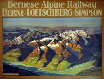 Bernese Alpine Railway – Berne – Loetschberg – Simplon, A. Gugger
