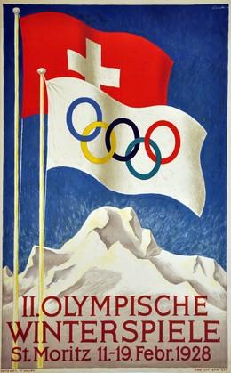 II. Olympische Winterspiele St. Moritz – 11. – 19. Febr. 1928, Hugo Laubi