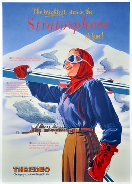 THREDBO – on happy occasions, it's wise to ski., Artist unknown