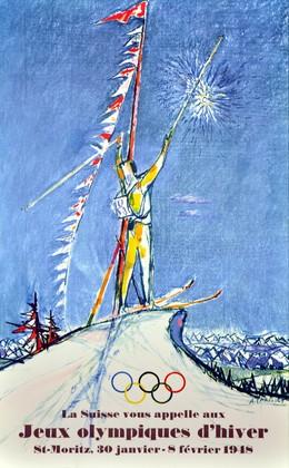 vintage print ad, mounted; size 21 x 34 cm, Alois Carigiet