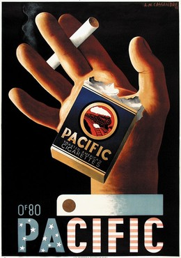 PACIFIC – Toasted American Cigarettes, 1901-1968) Cassandre (Adolphe Mouron