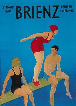 Strandbad BRIENZ – Berrner Oberland, J.P. Flück