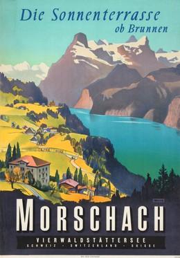Morschach – Sunny Terrace above Brunnen – Lake Lucerne, Artist unknown