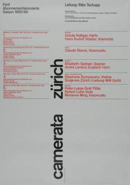 Räto Tschupp, Camerata Zurich 1965/66, Reto Tschupp