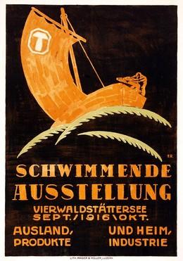 Schwimmende Ausstellung – Vierwaldstättersee 1916, Artist unknown