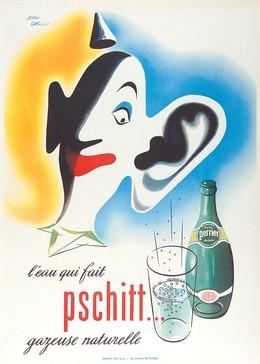 Perrier, l'eau qui fait pschitt… gazeuse naturelle, Jean Carlu