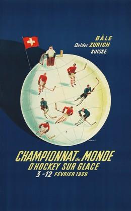 Championnat du monde d'hockey sur glace Bâle Dolder Zurich Suisse 1939, Franco Barberis