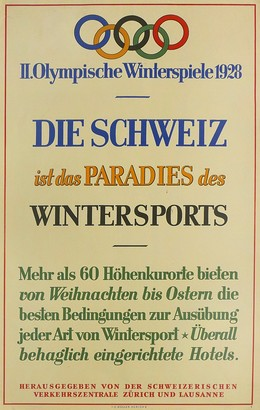 II. Olympische Winterspiele 1928, Artist unknown