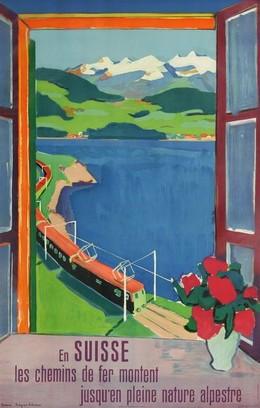 En Suisse les chemins de fer montent jusqu'en pleine nature alpestre, Hans Jegerlehner