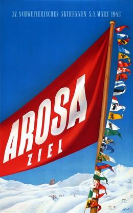 37. Schweizerisches Skirennen – Arosa – Ziel, Otto Malischke