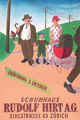 Schuhhaus Rudolf Hirt A.G. – Sihlstrasse 43 Zürich, Hugo Laubi