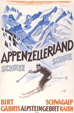 Appenzellerland – Schnee – Sonne – Schwägalp Alpsteingebiet, Ernst Emil Schlatter